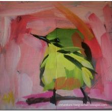 Green Bird Oil Painting