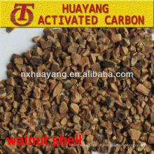 Remoção de óleo 90-95% de meio de filtro de casca de noz seca / plástica