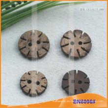Botones naturales de coco para la ropa BN8096