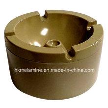 Cenicero a prueba de viento de melamina redonda con tapa (AT5886)