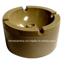 Redondo melamina windproof cinzeiro com tampa (at5886)