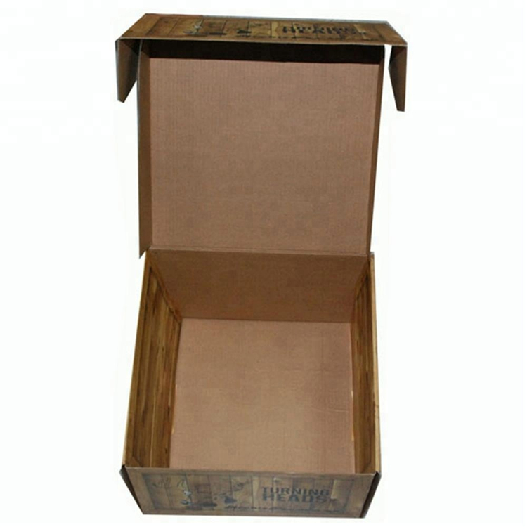 Custom Printed Easy Fold Corrugated Paper Box