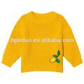 Child cotton knitted yellow jacket casual warm lemon dress casual girls cotton dresses