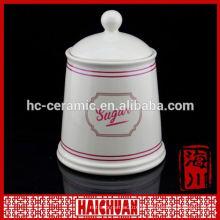 Novo Design White hermético bambu canister