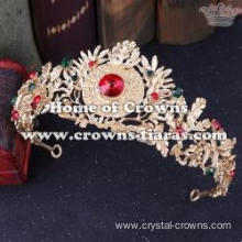 Wholesale Alloy Wedding Tiaras With Red Diamonds