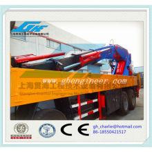 Camion à benne télescopique 8Ton largement utilisé avec grue de haute qualité