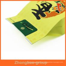 CMYK Printing Side Gusset 4 Sealed Plastiktasche Beutel für Bohnen / Snack Verpackung