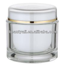 200ml redondo cosméticos transparentes de acrílico al por mayor