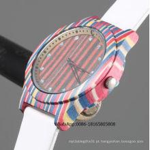 Relógio de pulso de madeira dos pares dos relógios de pulso dos homens de madeira baratos do relógio da venda 2016hot
