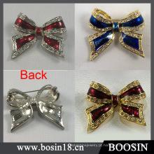 3 cores strass bow broche atacado