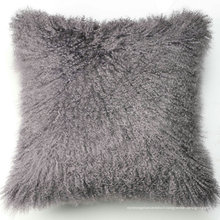 coussin de canapé en cuir de fourrure colorée