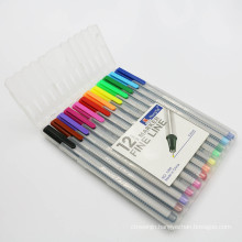 2015 Triangular Fine Liner Pen with PVC Tube Packed Set