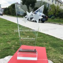 Venda quente melhor qualidade preço atraente personalizado troféu de cristal