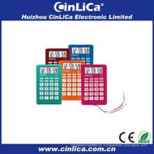 2014 calculadora colorida, calculadora com despertador, calculadora de presente com corda CA-89