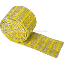 Machines à tricoter ménager éponge à plat matières premières matériau de tampon de nettoyage de ployester en rouleaux