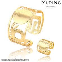 63812- Xuping Gold Supplier Summer Fashion Cuff Bangle Sets