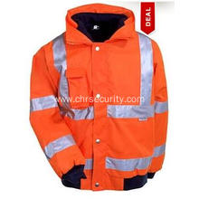 GloWear Class 3 Orange Bomber Jacket