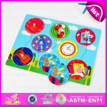 New Toys for Christmas 2015 Wooden Puzzle Toy, Educational Chritsmas Puzzle Toy for Kids, Christmas Gift Set for Children W14m065