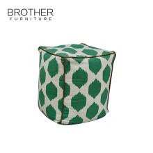 Indian style knitted pouf ottoman for living room