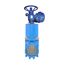China made low price high quality industrial safty cast iron motorized actuator knife gate valve DN150