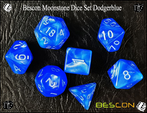 Dodgerblue Dice Set-4