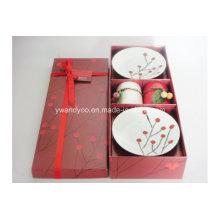 Vela perfumada de bayas rojas de Navidad