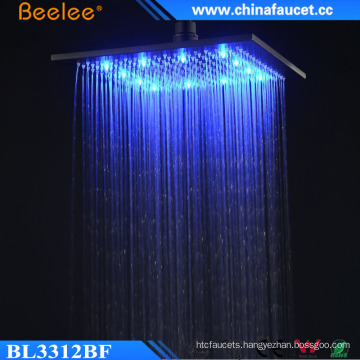 Luxurious 12 Inch Square Water Saving LED Light Head Shower