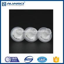 PP + PVDF descartable descartable, filtro de seringa de 13mm