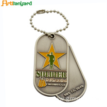 Best quality and factory for Dog Tags For Men Customized Metal Dog Tag With Embossed Logo supply to Japan Factories