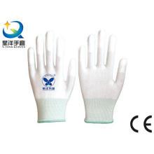 Guantes de ESD con la extremidad del dedo PU Guantes de trabajo revestidos de la seguridad (PU1007)