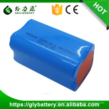 Paquet de batterie de Li-ion de la haute performance 3.7V 4800mah 18650 pour des outils électroniques