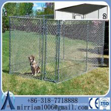 Heavy duty galvanized large dog kennel/ High Quality Factory Direct customized chain link dog kennel