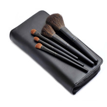Natural Hair Portable Cosmetic Beauty Makeup Brush with Zipper Pouch (5PCS)