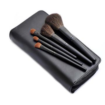 Natural cabelo cosméticos cosméticos beleza maquiagem escova com bolsa Zipper (5PCS)