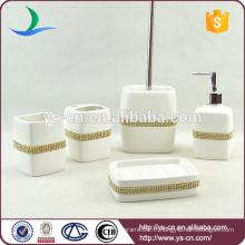 Accessoires de salle de bains en céramique en Chine avec diamant
