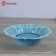 Various shape ceramic soup bowl,round shape fancy soup bowl