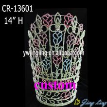 "14"" Big Rose Flower Pageant Crown"
