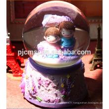 Nouveau design - Boîte à musique en cristal de boule en gros pour des souvenirs 2015