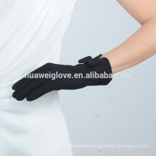 Fashion Korean style black lovely bowknot winter wool gloves