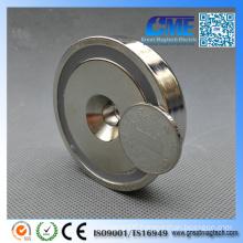 N42 Pot Dia 6 0 X15 mm M8 Countersunk NdFeB Permanent Magnet