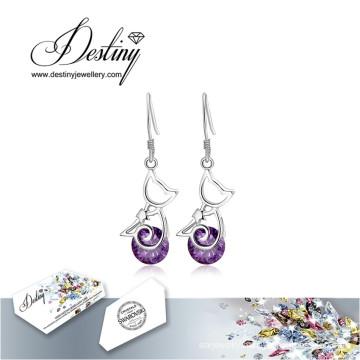 Destiny Jewellery Crystals From Swarovski Earrings Cat Long Earrings