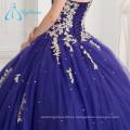 2017 Lace Appliques Sequined Beading vestido de bola Quinceanera Vestidos