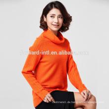 hohe Qualität gestrickte Langarm Rollkragen Pullover aus Cashmere-Wolle