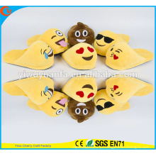 Confortável Moda Popular Inverno Quente Indoor Soft Plush Emoji Slipper Without Heel