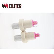 OLITER desechable desechable nuevo que viene una vez utilizado punta de termopar rápido para acero fundido