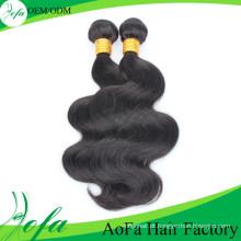 Tramas de cabelo remy brasileiro não processado do cabelo humano