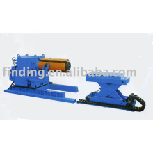 Hydraulic uncoiler decoiler with coil car