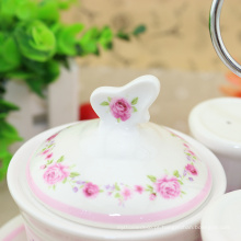 Conjunto de chá árabe de esmalte diferente de capacidade disponível