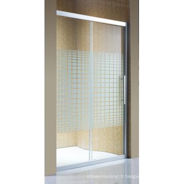 Porte de douche en verre simple sanitaire