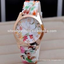Nouvelle montres de silicone à la mode Candy Color